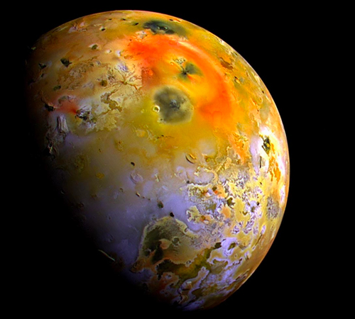 An image of Io, moon of Jupiter